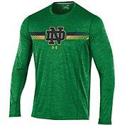 Under Armour Men's Notre Dame Fighting Irish Green Long Sleeve Training T-Shirt