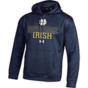 Under Armour Men's Notre Dame Fighting Irish Navy Armour Fleece Hoodie