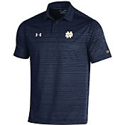 Under Armour Men's Notre Dame Fighting Irish Navy Trajectory Polo