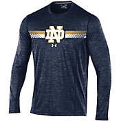 Under Armour Men's Notre Dame Fighting Irish Navy Football Sideline Training Long Sleeve Shirt