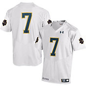 Under Armour Men's Notre Dame Fighting Irish White #7 Replica Football Jersey