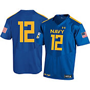 Under Armour Men's Navy Midshipmen Blue Angels #12 Blue Replica Jersey