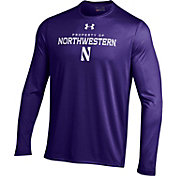 Under Armour Men's Northwestern Wildcats Purple UA Tech Long Sleeve Shirt