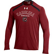 Under Armour Men's South Carolina Gamecocks Garnet Threadborne Vented Tech Long Sleeve Shirt