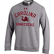 Under Armour Men's South Carolina Gamecocks Grey Tri-Blend Fleece Crew Sweatshirt