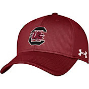 Under Armour Men's South Carolina Gamecocks Garnet Blitzing Stretch Fit Hat