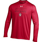 Under Armour Men's South Dakota Coyotes Red Long Sleeve Tech T-Shirt