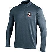 Under Armour Men's Southern Illinois  Salukis Grey UA Tech Tonal Twist Quarter-Zip Shirt