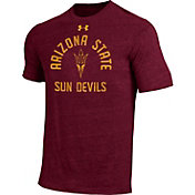 Under Armour Men's Arizona State Sun Devils Maroon Tri-Blend Performance T-Shirt
