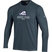 Under Armour Men's TCU Horned Frogs Raid Performance Long Sleeve Grey T-Shirt