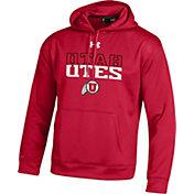 Under Armour Men's Utah Utes Crimson Armour Fleece Hoodie
