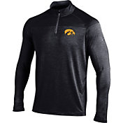 Under Armour Men's Iowa Hawkeyes Black Quarter-Zip Shirt