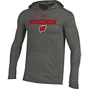 Under Armour Men's Wisconsin Badgers Grey Tri-Blend Hoodie