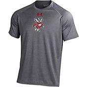 Under Armour Men's Wisconsin Badgers Grey Tech Performance T-Shirt