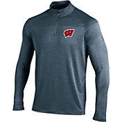 Under Armour Men's Wisconsin Badgers Grey Quarter-Zip Shirt