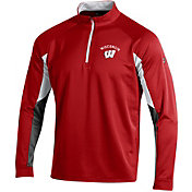 Under Armour Men's Wisconsin Badgers Red CGI Grid Quarter-Zip Shirt