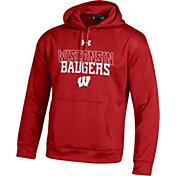 Under Armour Men's Wisconsin Badgers Red Armour Fleece Hoodie