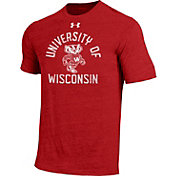 Under Armour Men's Wisconsin Badgers Red Tri-Blend T-Shirt