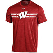 Under Armour Men's Wisconsin Badgers Red Training T-Shirt