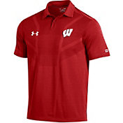 Under Armour Men's Wisconsin Badgers Red Tour Polo
