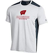 Under Armour Men's Wisconsin Badgers White Raid T-Shirt