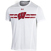 Under Armour Men's Wisconsin Badgers White Training T-Shirt