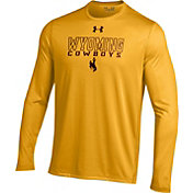 Under Armour Men's Wyoming Cowboys Gold UA Tech Performance Long Sleeve Shirt