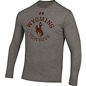 Under Armour Men's Wyoming Cowboys Grey Tri-Blend Performance Long Sleeve T-Shirt