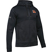 Under Armour NFL Combine Authentic Men's Cincinnati Bengals Armour Fleece Black Full-Zip Hoodie
