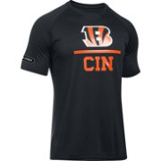 Under Armour NFL Combine Authentic Men's Cincinnati Bengals Lockup Logo Tech Black T-Shirt