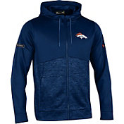 Under Armour NFL Combine Authentic Men's Denver Broncos Armour Fleece Navy Full-Zip Hoodie