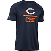 Under Armour NFL Combine Authentic Men's Chicago Bears Lockup Logo Tech Navy T-Shirt