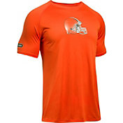 Under Armour NFL Combine Authentic Men's Cleveland Browns Logo Orange Tech Performance T-Shirt