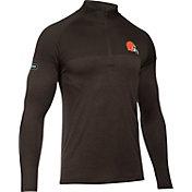 Under Armour NFL Combine Authentic Men's Cleveland Browns Tech Novelty Brown Quarter-Zip Pullover