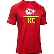 Under Armour NFL Combine Authentic Men's Kansas City Chiefs Lockup Logo Tech Red T-Shirt