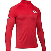 Under Armour NFL Combine Authentic Men's Kansas City Chiefs Tech Novelty Red Quarter-Zip Pullover