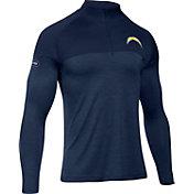Under Armour NFL Combine Authentic Men's Los Angeles Chargers Tech Novelty Navy Quarter-Zip Pullover