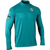 Under Armour NFL Combine Authentic Men's Miami Dolphins Tech Novelty Aqua Quarter-Zip Pullover