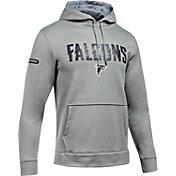 Under Armour NFL Combine Authentic Men's Atlanta Falcons Armour Fleece Grey Hoodie