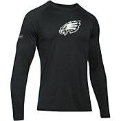 Under Armour NFL Combine Authentic Men's Philadelphia Eagles Logo Black Tech Long Sleeve Shirt