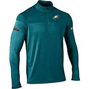 Under Armour NFL Combine Authentic Men's Philadelphia Eagles Tech Novelty Green Quarter-Zip Pullover