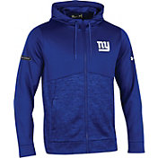 Under Armour NFL Combine Authentic Men's New York Giants Armour Fleece Blue Full-Zip Hoodie