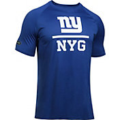 Under Armour NFL Combine Authentic Men's New York Giants Lockup Logo Tech Blue T-Shirt