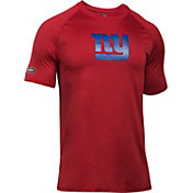 Under Armour NFL Combine Authentic Men's New York Giants Logo Red Tech Performance T-Shirt
