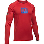 Under Armour NFL Combine Authentic Men's New York Giants Logo Red Tech Long Sleeve Shirt