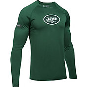 Under Armour NFL Combine Authentic Men's New York Jets Logo Green Tech Long Sleeve Shirt