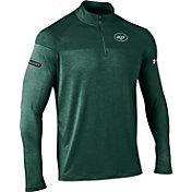 Under Armour NFL Combine Authentic Men's New York Jets Tech Novelty Green Quarter-Zip Pullover