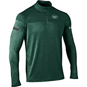 Under Armour NFL Combine Authentic Men's New York Jets Tech Novelty Green Quarter-Zip Pullover