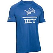 Under Armour NFL Combine Authentic Men's Detroit Lions Lockup Logo Tech Blue T-Shirt