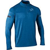Under Armour NFL Combine Authentic Men's Detroit Lions Tech Novelty Blue Quarter-Zip Pullover